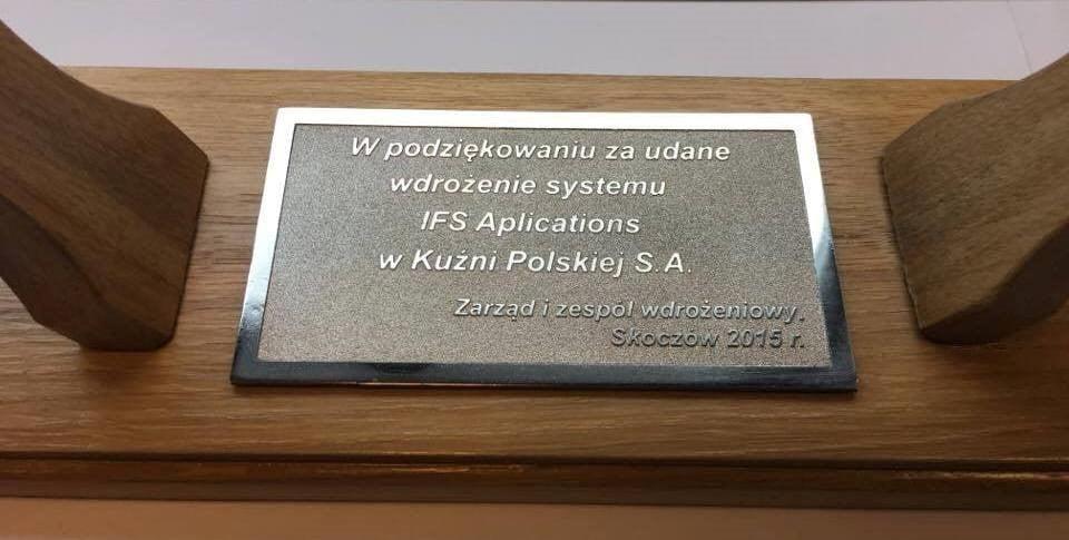 podziękowanie - Kuźnia Polska