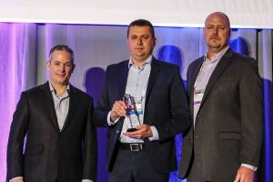 Darren Roos (CEO of IFS), Grzegorz Musiał (VP of InfoConsulting), David Eager (IFS VP of Global Alliances)