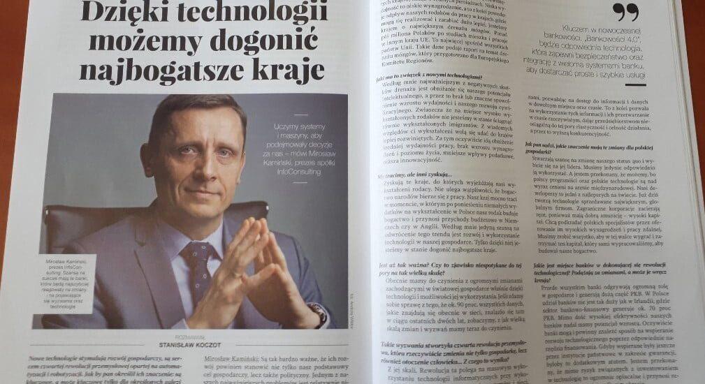 Wywiad z Mirosławem Kamińskim w Gazecie Bankowej